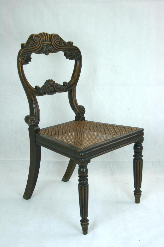 Set-of-Four-Walnut-Dining-Chairs
